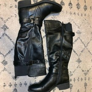 Croft & barrow tall black wide calf boots